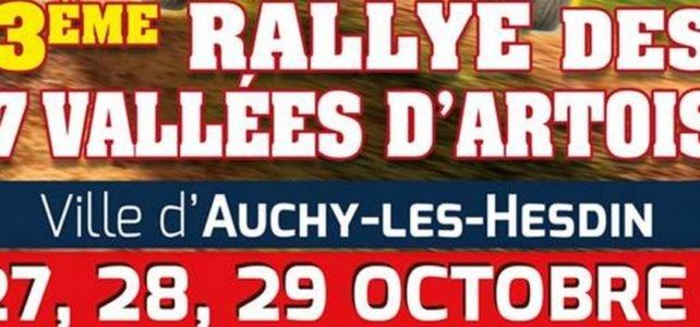 Rallye des 7 vallées d'artois 27, 28, 29 octobre 2017